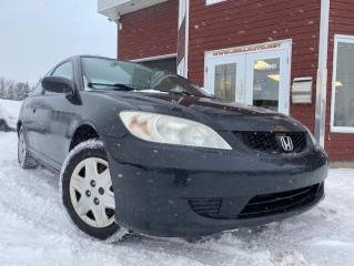 Used 2005 Honda Civic 2 portes DX, boîte manuelle for sale in Drummondville, QC