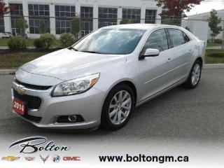 Used 2014 Chevrolet Malibu 2LT - One owner - Local trade in - for sale in Bolton, ON