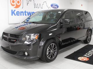 Used 2019 Dodge Grand Caravan GT with heated power leather seats, heated steering wheel and a back up cam for sale in Edmonton, AB