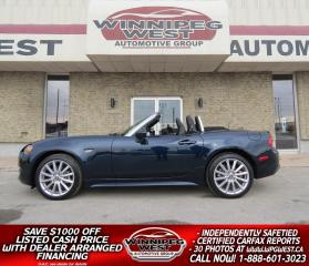 Used 2019 Fiat 124 Spider LUSSO, AUTO, ALL OPTIONS, FLAWLESS & SHARP!! for sale in Headingley, MB