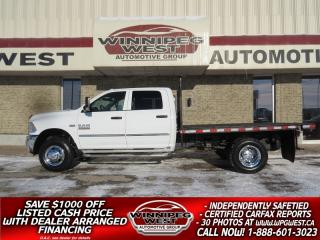 Used 2016 RAM 3500 FLAT DECK CREW DUALLY 4X4, 6.4L HEMI, WORK READY! for sale in Headingley, MB