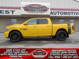Used 2016 Dodge Ram 1500 SPORT STINGER ED CREW 4X4, LOW K, AMAZING LOOKS!! for sale in Headingley, MB