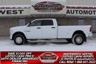 Used 2015 RAM 3500 6.7L CUMMINS CREW DUALLY 4X4, 5TH PREP PKG, MINT! for sale in Headingley, MB