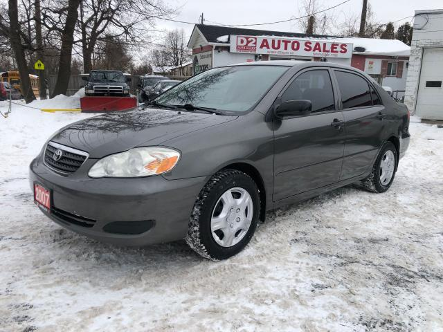 2007 Toyota Corolla CE/Low KM/Automatic/Comes Certified/Gas Saver