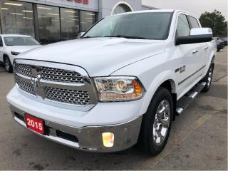 Used 2015 RAM 1500 Laramie Crew 4x4 EcoDiesel w/Leather, Navi, Tow Pa for sale in Hamilton, ON