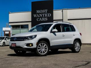 Used 2017 Volkswagen Tiguan Comfortline AWD|CAM|LEATHER|SUNROOF|TOUCHSCREEN for sale in Kitchener, ON