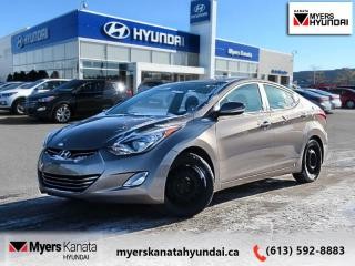 Used 2013 Hyundai Elantra Limited  - $83 B/W - Low Mileage for sale in Kanata, ON