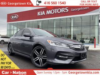 Used 2017 Honda Accord Sedan SPORT | SUNROOF | LEATHER TRIM | B/U CAM | LOW KM for sale in Georgetown, ON