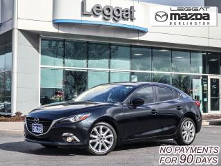 Used 2016 Mazda MAZDA3 GT- 6SPD, LEATHER, MOONROOF, BOSE, BLUETOOTH, REAR CAMERA for sale in Burlington, ON