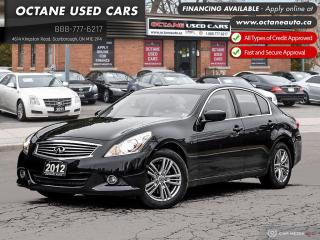 Used 2012 Infiniti G37 X Luxury AWD! Certified! for sale in Scarborough, ON