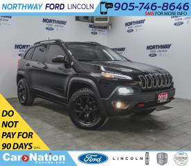 Used 2018 Jeep Cherokee Trailhawk | 4x4 | NAV | HTD LEATHER | PANO ROOF | for sale in Brantford, ON