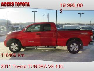 Used 2011 Toyota Tundra 4X4 DOUBLE CAB for sale in Rouyn-Noranda, QC