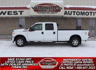 Used 2014 Ford F-350 XLT CREW 6.2L V8 4X4, 8FT BOX, LOW KM, HUGE VALUE! for sale in Headingley, MB