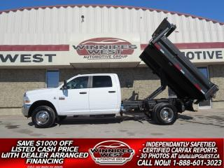 Used 2011 RAM 3500 Crew Cab SLT CREW CUMMINS DUMP/DECK TRUCK COMBO, CLEAN! for sale in Headingley, MB