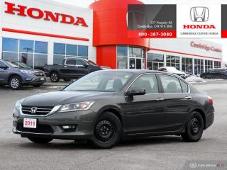 Used 2015 Honda Accord EX-L DUAL CLIMATE ZONES | ECON MODE WITH ECO-ASSIST SYSTEM | POWER ADJUSTABLE DRIVER SEAT for sale in Cambridge, ON