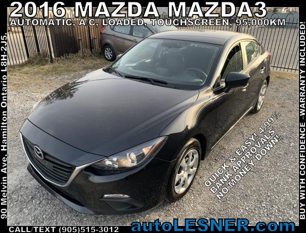 2016 Mazda MAZDA3 -ZERO DOWN, $209 for 60 months FINANCE TO OWN!