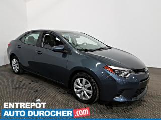 Used 2016 Toyota Corolla Automatique - AIR CLIMATISÉ - Sièges Chauffants for sale in Laval, QC