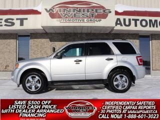 Used 2009 Ford Escape V6 4X4, HTD LEATHER, SUNROOF & MORE, LOCAL TRADE for sale in Headingley, MB