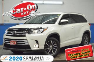 Used 2017 Toyota Highlander XLE 8 SEAT LEATHER NAV SUNROOF REAR CAM ADAPTIVE C for sale in Ottawa, ON
