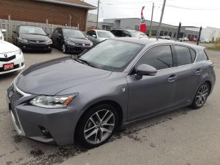 Used 2016 Lexus CT 200h FSPORT, NAV,BACKUP, BLUETOOTH, 110 KM for sale in Ottawa, ON