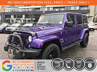 Used 2017 Jeep Wrangler Unlimited Sahara - Nav / Leather / Winch / No Dealer Fees for sale in Richmond, BC