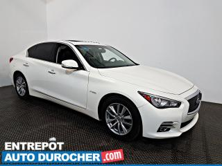 Used 2015 Infiniti Q50 Hybrid AWD NAVIGATION - Toit Ouvrant - A/C - Cuir for sale in Laval, QC