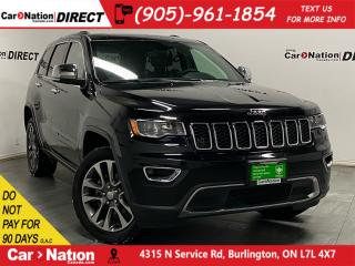 Used 2018 Jeep Grand Cherokee Limited| 4X4| NAVI| LEATHER| SUNROOF| for sale in Burlington, ON