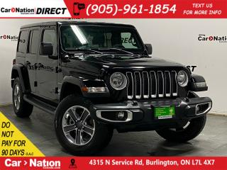 Used 2019 Jeep Wrangler Unlimited Sahara| 4X4| LEATHER| NAVI| HARD TOP| for sale in Burlington, ON