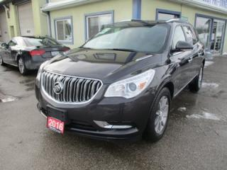 Used 2016 Buick Enclave LOADED ALL-WHEEL DRIVE 7 PASSENGER 3.6L - V6.. CAPTAINS & 3RD ROW.. LEATHER.. HEATED SEATS.. BACK-UP CAMERA.. DUAL SUNROOF.. BLUETOOTH.. for sale in Bradford, ON