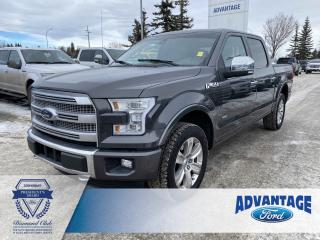 Used 2015 Ford F-150 Platinum Remote Start - Cruise Control - Clean Carfax for sale in Calgary, AB
