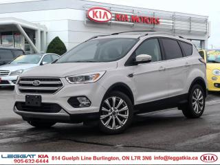 Used 2017 Ford Escape Titanium FULLY LOADED! TITANIUM TECH!!! BACKUP SENSORS/CAMERA, HEATED STEERING WHEEL, BLUETOOTH, HEATED LEATH for sale in Burlington, ON