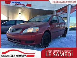Used 2003 Toyota Corolla CE JAMAIS ACCIDENTÉE for sale in Île-Perrot, QC