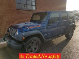 Used 2010 Jeep Wrangler Mountain-6 speeds for sale in Oakville, ON
