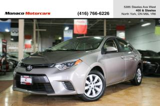 Used 2015 Toyota Corolla LE - BACKUP CAMERA|BLUETOOTH|ONE OWNER|CERTIFIED for sale in North York, ON