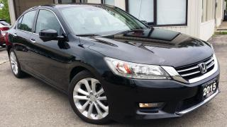 Used 2015 Honda Accord Touring V6 Sedan - LEATHER! NAV! BACK-UP/ BLIND SPOT CAMERA! for sale in Kitchener, ON