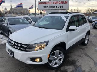 Used 2016 Volkswagen Tiguan Comfortline 4Motion AWD/Leather/Camera/Sunroof/Navigation for sale in Mississauga, ON