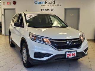 Used 2016 Honda CR-V LX 2WD Heated Seats, Rear View Camera, Bluetooth for sale in Burnaby, BC