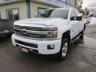 Used 2016 Chevrolet Silverado 2500 3/4 TON HIGH-COUNTRY EDITION 5 PASSENGER 6.6L - DURAMAX.. 4X4.. CREW.. SHORTY.. NAVIGATION.. LEATHER.. HEATED/AC SEATS.. SUNROOF.. BACK-UP CAMERA.. for sale in Bradford, ON