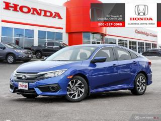 Used 2018 Honda Civic HEATED FRONT SEATS | LEATHER-WRAPPED STEERING WHEEL | HONDA SENSING TECHNOLOGIES for sale in Cambridge, ON