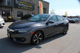 Used 2017 Honda Civic TOURING NAVI HEATED LEATHER SUNROOF BACKUP CAM for sale in Newmarket, ON