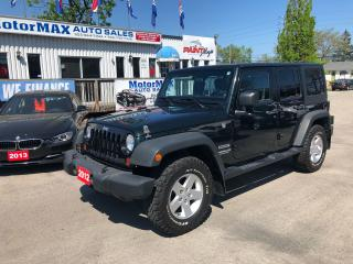Used 2012 Jeep Wrangler Unlimited-SOLD SOLD for sale in Stoney Creek, ON