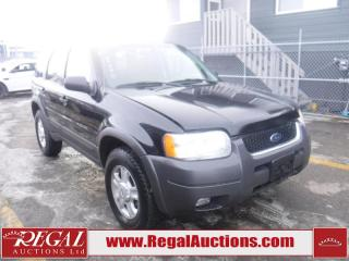 Used 2003 Ford Escape XLT 4D Utility 4WD for sale in Calgary, AB