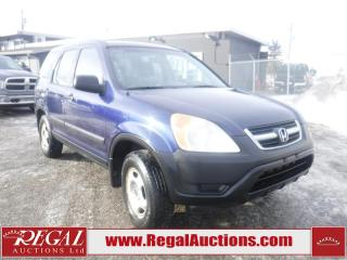 Used 2004 Honda CR-V BASE 4D UTILITY 4WD for sale in Calgary, AB