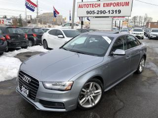 Used 2016 Audi A4 Technik Navigation/Leather/Sunroof/Blind Spot for sale in Mississauga, ON