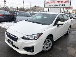 Used 2017 Subaru Impreza Touring Pearl White Camera/Heated Seats/Alloys&GPS* for sale in Mississauga, ON