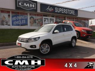 Used 2016 Volkswagen Tiguan Comfortline  CAM HS CLIMATE RAIN-SENS for sale in St. Catharines, ON