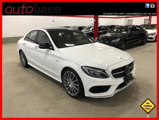 Used 2017 Mercedes-Benz C-Class C43 AMG 4MATIC DISTRONIC AMG DRIVER PREMIUM LED 360 RED INT! for sale in Vaughan, ON