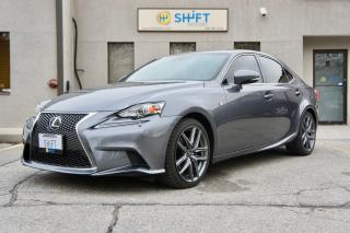 Used 2014 Lexus IS 250 F SPORT AWD NAVIGATION PACKAGE, ALL WEATHER PACKAGE, ACCIDENT FREE! for sale in Burlington, ON