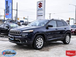 Used 2016 Jeep Cherokee Limited 4x4 ~Nav ~Heated Leather ~Panoramic Roof for sale in Barrie, ON