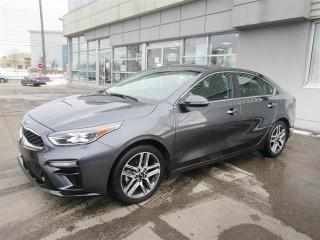 Used 2019 Kia Forte EX Limited Demo/Loaded/Leather/Sunroof/Camera/Navigation/Blind Spot/Heated seats and steering/Apple Car Play and Android Auto for sale in Mississauga, ON